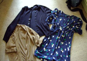 2 cardies and a dress (sorry so blurry!)