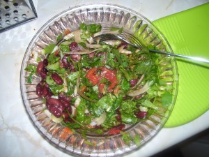 Kidney bean, fennel and herb salad